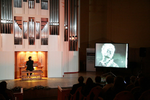 William O'Meara improvising on organ at the Perm Organ Festival, Russia, November 2007.