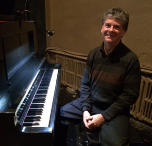 "At the piano, accompanying ""Tillie's Punctured Romance"" (1914) in Toronto at the Fox Theatre's centenary celebration, Sept. 18, 2014."